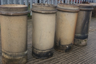 cylindrical buff chimney pots