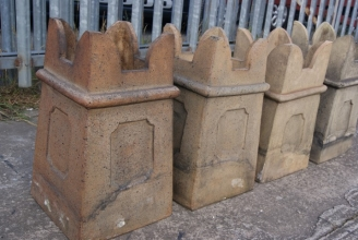 Victorian castellated chimney pots