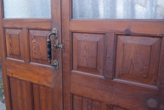 Victorian part glazed double doors