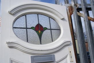 Art Deco exterior door