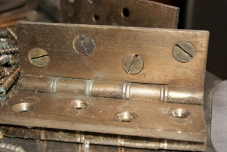 Reclaimed brass hinges