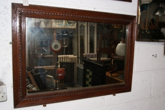 Victorian mirror with egg & dart moulding