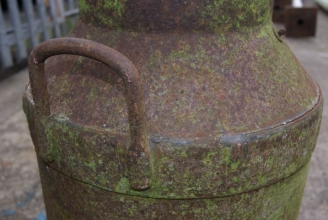 Vintage steel milk churn