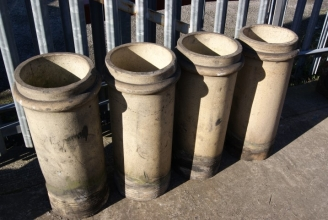 Victorian buff chimney pots