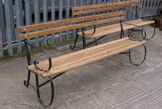 Victorian wrought iron bench
