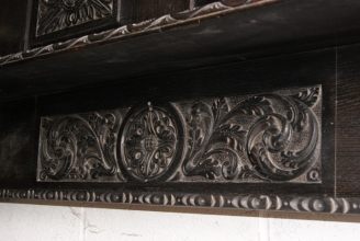 Victorian carved oak fire surround