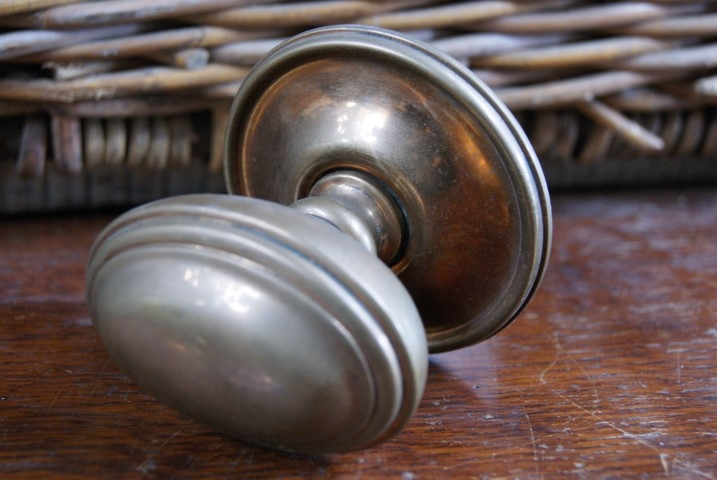 Victorian brass door pull