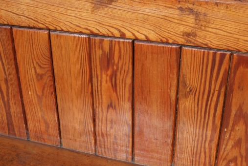 Victorian pitch pine pew
