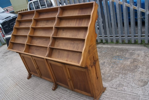 Oak display & storage unit