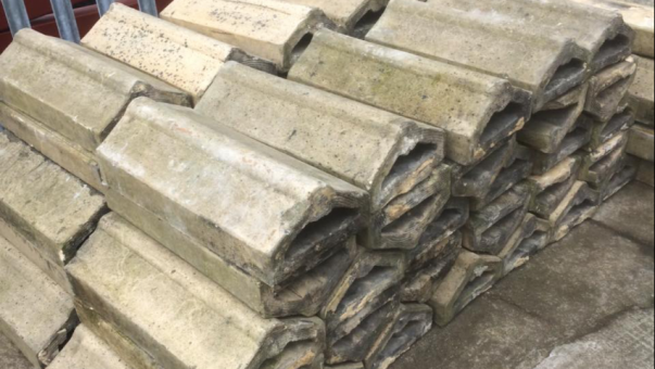 Victorian fireclay coping stones