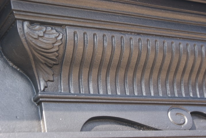 Original Victorian cast iron fire surround