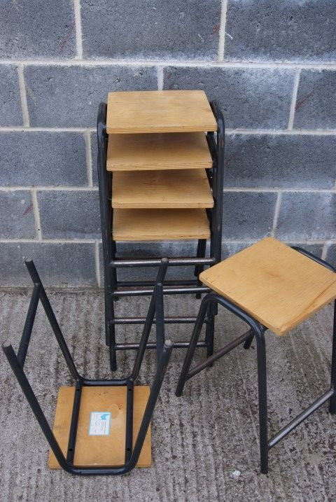 Science lab beech top stools