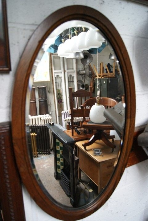Edwardian Oval Mirror
