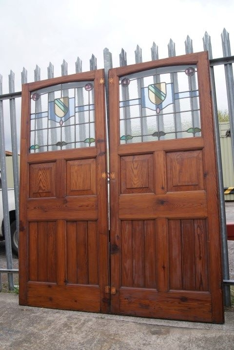 Stained glass double door