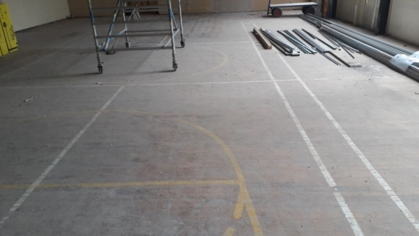 Reclaimed gymnasium flooring