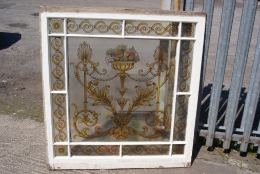 Victorian painted window