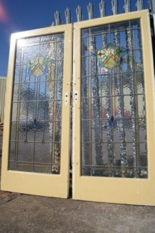 Victorian stained glass doors