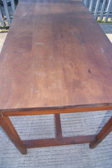 Teak topped table