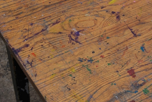 Oak art lab tables