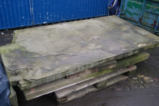 Huge york-stone slabs